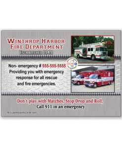 Custom Fire Department Trading Cards | Custom Sports Cards